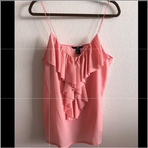 H&M Limited edition Ruffled camisole top Size:12